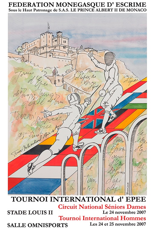 Collection Posters Epee F 233 D 233 Ration Mon 233 Gasque D Escrime