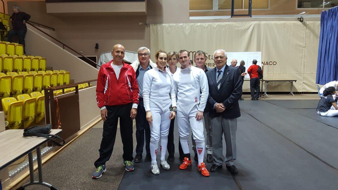 L'équipe de Monaco au Tournoi Internationnal Epée 2017